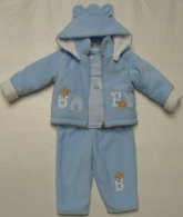 trojkomplet fleece baby